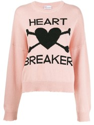 Red Valentino Heart Motif Knitted Jumper Pink