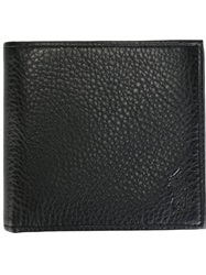 Polo Ralph Lauren Pebbled Foldover Wallet Black