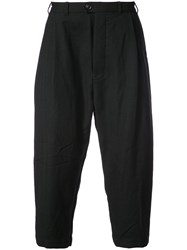 Casey Casey Cropped Tapered Trousers Wool L Black