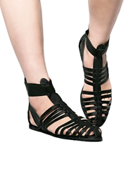 Pixie Market Jeffrey Campbell Black Pointed Gladiator Sandals