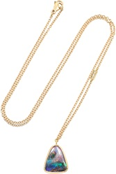 Brooke Gregson 18 Karat Gold Opal And Diamond Necklace