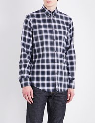 Dsquared Regular Fit Checked Elbow Patch Shirt Red Green White