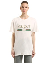 2706fbd2082 Gucci Vintage Logo Cotton Jersey T Shirt White