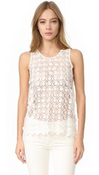 Carven Sleeveless Top Blanc