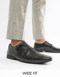 Kg By Kurt Geiger Wide Fit Kilcardy Monk Shoes Black