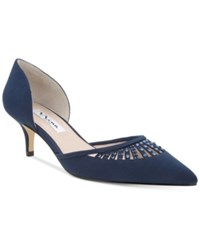 Nina Tamay D'orsay Pointed Toe Evening Pumps Women's Shoes New Navy