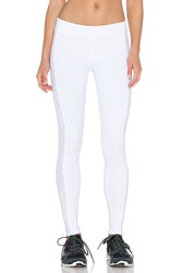 Solow Lace Cut Out Capri Pant White