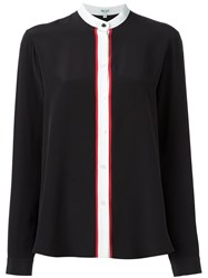 Kenzo Band Collar Blouse Black