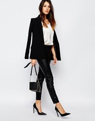 French Connection Atlantic Leggings In Faux Leather Black