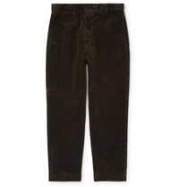 Margaret Howell Cotton Corduroy Trousers Dark Green