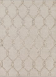 Chandra Davin 25817 Hand Tufted Rectangle Contemporary Rug Brown