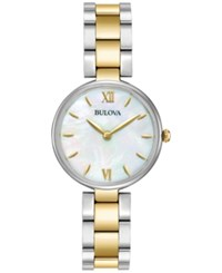 Bulova Women's Dress Two Tone Stainless Steel Bracelet Watch 27Mm 98L226 Two Tone