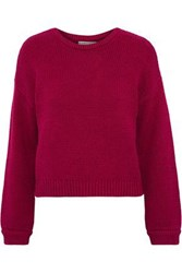 Alice Olivia Woman Leena Cotton Blend Sweater Magenta