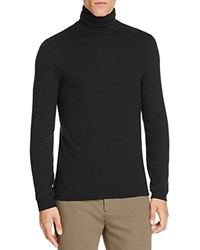 Atm Anthony Thomas Melillo Cotton Ribbed Turtleneck Sweater Black