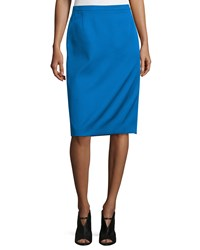 Cnc Costume National Mid Rise Pencil Skirt Cobalt Women's