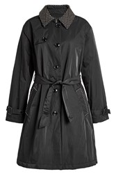 Boutique Moschino Belted Trench Coat Black