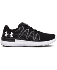 Under Armour Thrill 3 Running Sneakers From Finish Line Black White