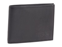 Kenneth Cole Reaction Wall Street Front Pocket Billfold Black Leather Bill Fold Wallet