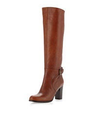 Sesto Meucci Dolly Buckled Knee Boot Cuoio