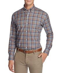 Tailorbyrd Huayra Plaid Classic Fit Button Down Shirt Orange