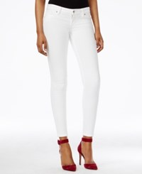 Guess Power Low Rise True White Wash Skinny Jeans