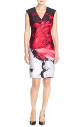 Women's Donna Ricco Print Scuba Sheath Dress