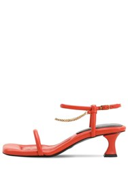 Proenza Schouler 50Mm Leather And Chain Sandals Orange