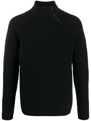 Transit Zipped Neck Sweater Black