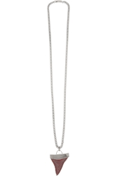 Givenchy Shark Tooth Necklace In Gunmetal Tone Brass And Crystal