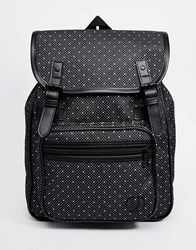 Fred Perry Backpack In Polka Dot Canvas Black