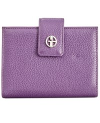 Giani Bernini Softy Leather Wallet Only At Macy's Bright Orchid