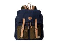 Scotch And Soda Denim Leather Backpack Navy Backpack Bags