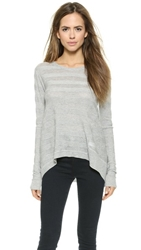 Wilt Luxe Striped Sweater Grey Heather