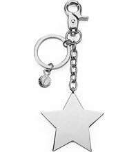 Aspinal Of London Silver Plated Star Keyring