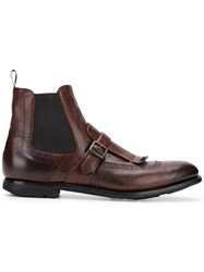 Church's Shanghai Buckled Boots Brown