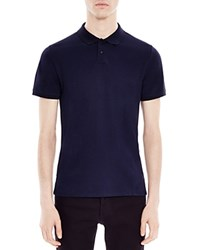 Sandro Knit Slim Fit Polo Navy Blue
