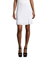 M Missoni Zigzag Knit A Line Skirt White