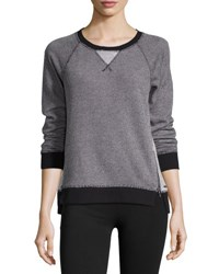 Marc New York Side Zip Athletic Pullover Black