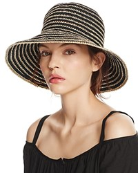 Aqua Metallic Ribbon Floppy Sun Hat 100 Exclusive Black Gold
