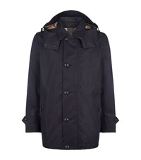 Burberry Brit Delsworth Cotton Trench Coat Male Navy