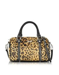 Zadig And Voltaire Xs Sunny Leo Hair Calf Satchel Bag Brown