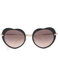 Miu Miu Eyewear Heart Shaped Sunglasses Black