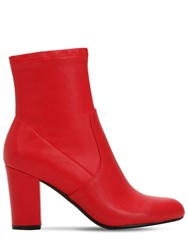 Steve Madden 90Mm Actual Faux Leather Boots Red
