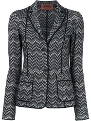 Missoni Two Button Blazer Black