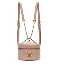 Gucci Gg Marmont Mini Leather Backpack Beige