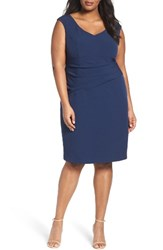 Adrianna Papell Plus Size Women's Stretch Crepe Sheath Dress