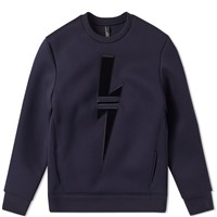 Neil Barrett Sport Bolt Crew Sweat Blue