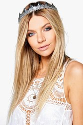 Boohoo Coin And Bell Embellished Head Crown Silver