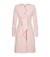 Ted Baker Ceally Collarless Belted Coat Female Pink