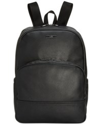 Hugo Boss Men's Element Leather Backpack Black
